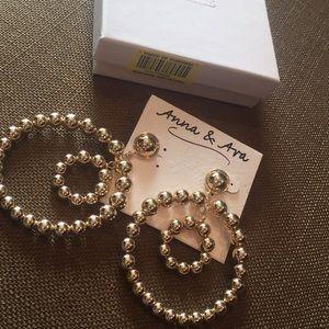 ce4890ef9c643 Anna & Ava double hoop earrings, pierced NWT